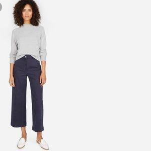 Everlane Small S Gray Mock Neck Sweater Cotton